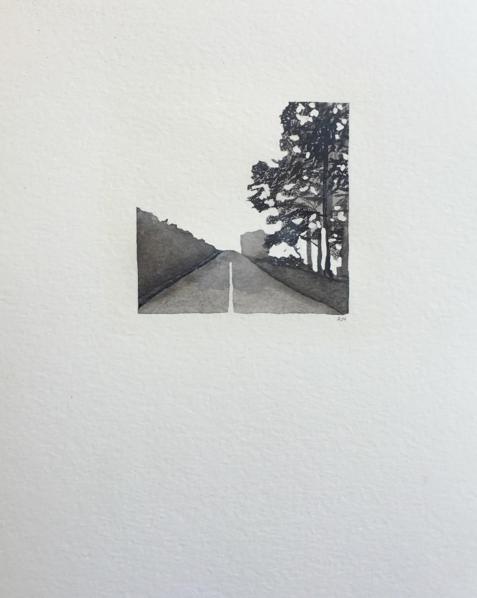 © Misty Open Road by Renée Nesbitt
